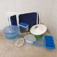 ($5 all)13pc Spinner, Placemats + containers lot Toronto, M2K