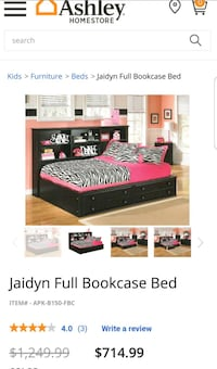 Full size bed (NO MATTRESS)
