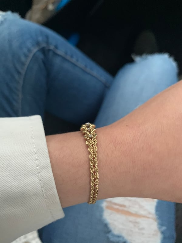 14k Gold 5 Diamond Bracelet 2