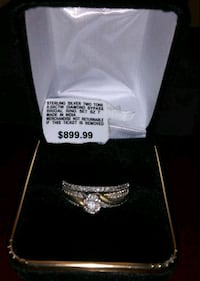 Size 10 two tone .50 ctw diamond Sterling silver Dundalk