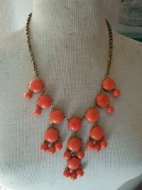 Zad jewelry orange cluster bib necklace