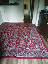 Huge red floral rug New Westminster, V3L 5L7