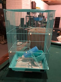 white and teal metal birdcage Onsted, 49265