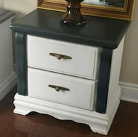 Black and white side table  Grimsby