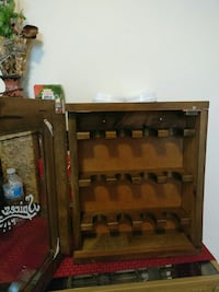brown wooden rack cabinet Plainfield, 07063