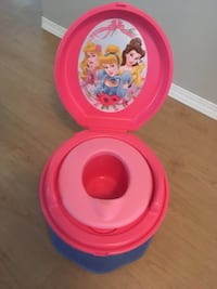 pink and yellow Minnie Mouse potty trainer Edmonton, T5Y 0Y4