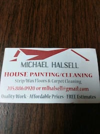 stripping and wax floors, and carpet cleaning ,and painting free Estimate