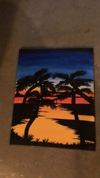Palmtrees  at Sunset painting