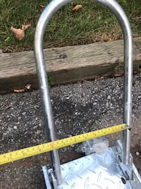 Galvanized motorcycle rail with wheel chock Toronto, M8Y 3M8