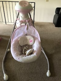 baby's pink and white cradle and swing East Haven, 06512
