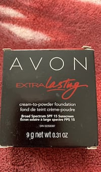 Avon extra lasting cream to powder foundation shade nude  Barrie, L4N 5A4