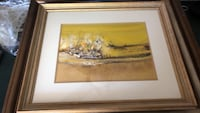 brown wooden framed painting of trees Albuquerque, 87111