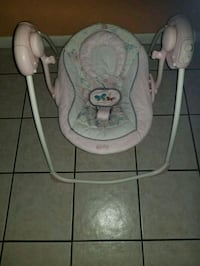 baby's white and gray swing chair Tampa