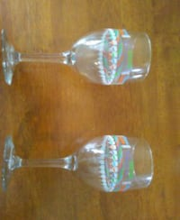 two clear wine glasses Wilmington