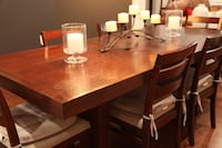 rectangular brown wooden table with four chairs dining set Falls Church, 22042