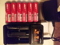 6 pk 18650 battery 3000mAh (new) & Digital battery charger (used)