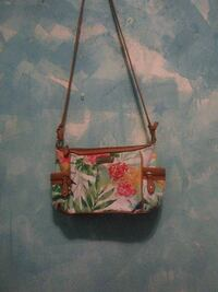 white and green floral sling bag Lancaster, 93534