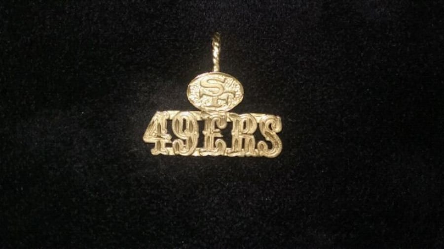 14k 49ers gold charm no chain 1