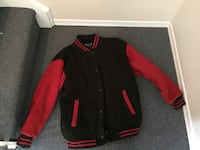 Black and red button up Varsity jacket Toronto, M1G