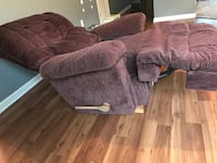 brown suede padded sectional sofa