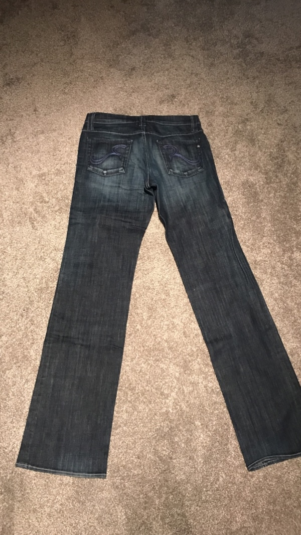 Blue-washed rock and revival jeans