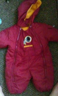 baby's red and yellow Washington Redskin footie pa Front Royal, 22630