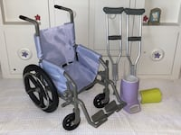 American Girl Doll- Wheelchair, Crutches, Leg and Wrist Cast Monroe, 06468