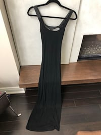 Black maxi dress with caged back