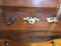 Belt Buckles ... the square one (far right) requires repair St Thomas, N5R 3M4