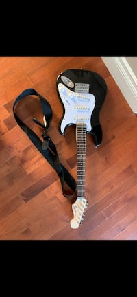Squier mini black guitar with strap Calgary, T3H 4G8
