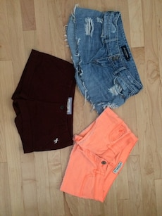 Size 14 Girls Abercrombie And Fitch Denim Shorts for sale  Loehmanns Plaza, NY