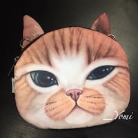 Brown and white kitty cross-body bag 奥克维尔, L6M