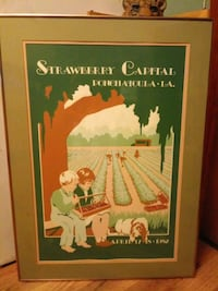 Ponchatoula strawberry festival framed poster Ponchatoula, 70454