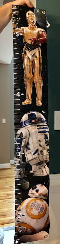 Star Wars height chart, never used Stephens City, 22655