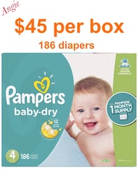 Pamper baby dry size 4