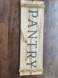 "35""×12"" wood PANTRY sign Sparta, 38583"