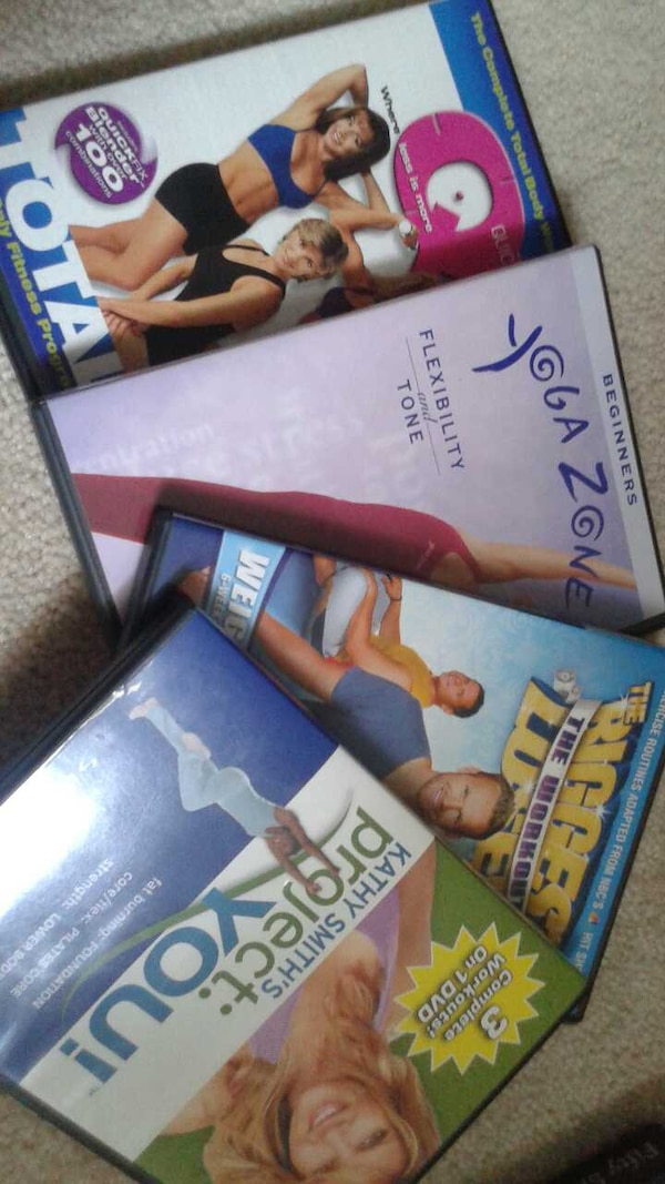 Yoga and workout dvds.