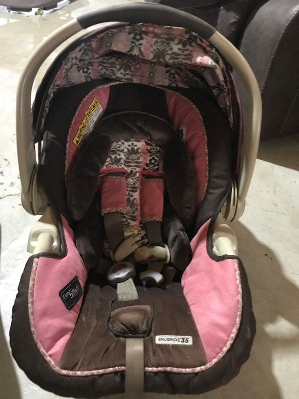 Baby S Brown And Pink Floral Graco Infant Car Seat