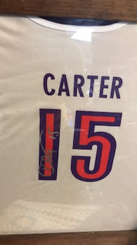 Vince Carter Signed Authentic Reebok New Jersey Nets Jersey JSA COA Arlington, 22204
