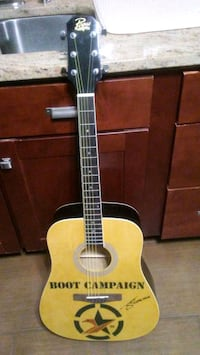 Autographed Chase Rice guitar