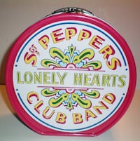 Beatles Sgt Peppers Drum Shaped Collectable Tin Tote or Lunchbox London