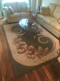 white and brown floral area rug Brampton, L6P 3K4