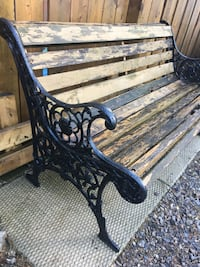 Cast iron and large bench