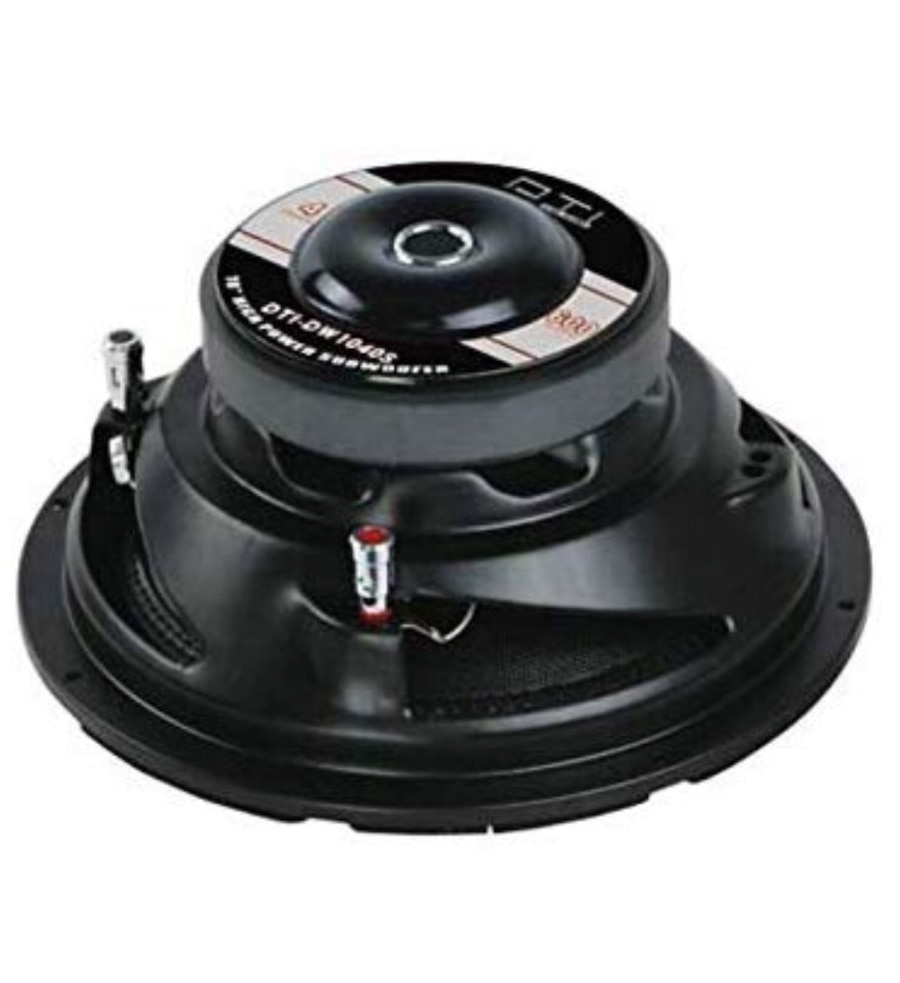"""DTI DW1040S 10/"""" 600 Watts Max Dual 4 OHM High Power Car Audio Stereo Subwoofer"""