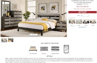 black and silver bedroom set -king!! New Orleans
