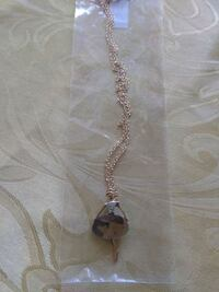 silver-colored necklace with pendant Santa Rosa, 95404