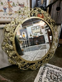 oval brown wooden framed mirror Mooresville, 28115