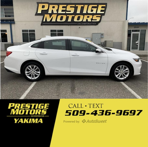 Friendly Chevrolet Used Cars: Used 2018 Chevrolet Malibu LT For Sale In Yakima