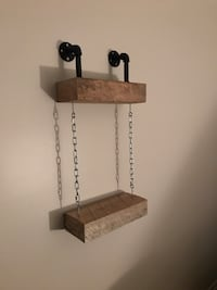 brown and black wooden wall mount rack Longueuil, J4J 3K9