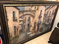 Gold and brown wooden framed painting Vaughan, L4H 0X9